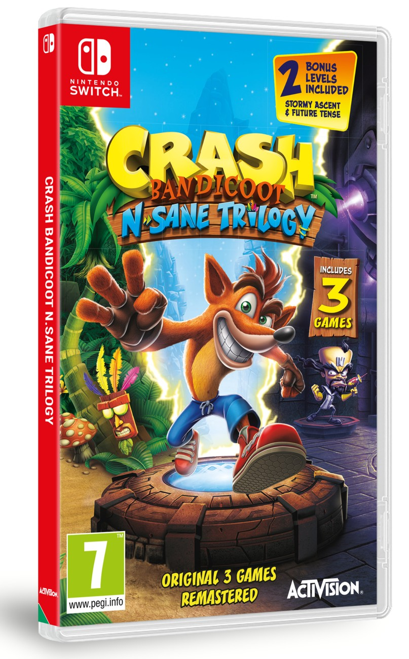 detail Crash Bandicoot N.Sane Trilogy - Switch