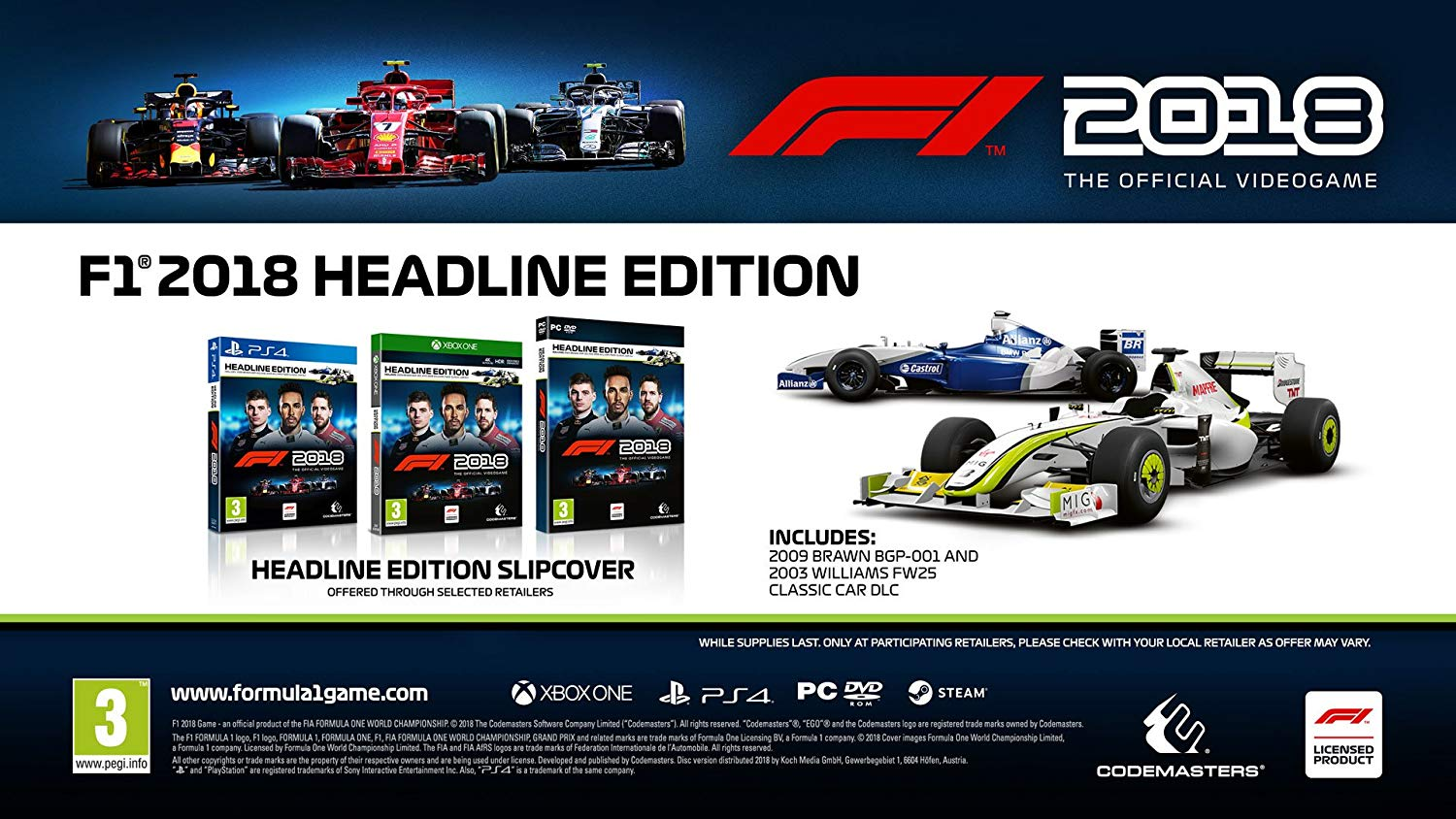 detail F1 2018 - Headline Edition - PS4