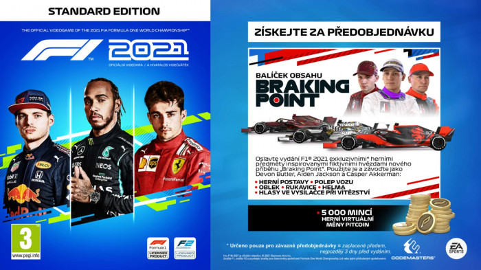 F1 2021 pro PlayStation 5