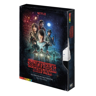 Zápisník Stranger Things - VHS A5