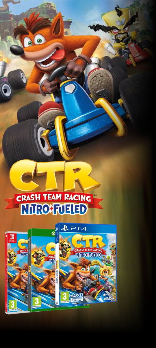 Crash Team Racing Nitro-Fueled - PS4, Xone a Nintendo Switch